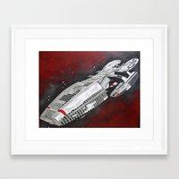 battlestar Framed Art Prints featuring Battlestar by Randy Cross