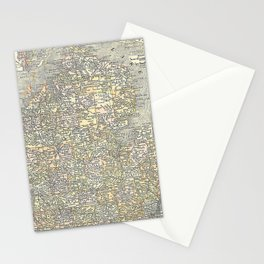 Vintage Map of Michigan (1901) Stationery Cards
