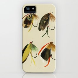Trout & Bass Flies from Favorite Flies and Their Histories by Mary Orvis Marbury iPhone Case