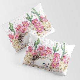 Camouflage - Hedgehog and Cactus Pillow Sham