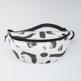 Dance Expressive Black and White Print Fanny Pack