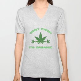Its Organic Marijuana Leaf Trio Unisex V-Neck