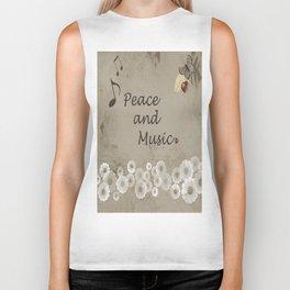 Peace and Music Biker Tank