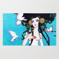 venus Area & Throw Rugs featuring Venus by Leilani Joy