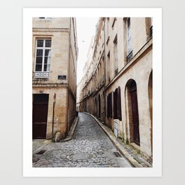 French Alleyways Art Print