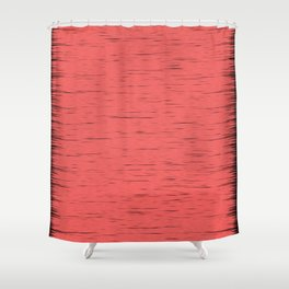 LIVING CORAL - WITH DARK FRAYED EDGES Shower Curtain
