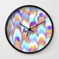 glitch Wall Clocks featuring Glitch by Elisabeth Fredriksson