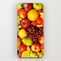 fruits iPhone & iPod Skins featuring FRUITS by Ylenia Pizzetti