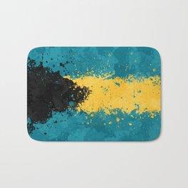 Bahamas Flag - Messy Action Painting Bath Mat
