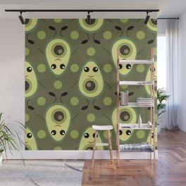 Cute Avocado Wall Mural