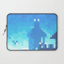Pixel Town at Sundown - Blue Laptop Sleeve