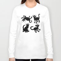 musa Long Sleeve T-shirts featuring 4cats by musa