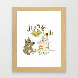 jingle bell kittens Framed Art Print