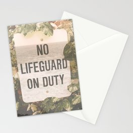 No Life Guard on Duity Stationery Cards