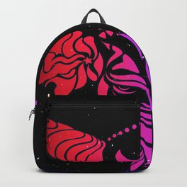 Cattle in the wind #neon by #Bizzartino Backpack