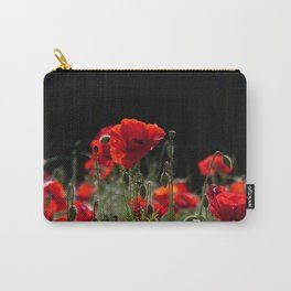 Red Poppies in bright sunlight Carry-All Pouch