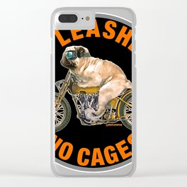 No leashes. no cages Clear iPhone Case