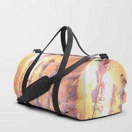 Bullfinch Birds In Sunny Winter Morning #decor #society6 Duffle Bag