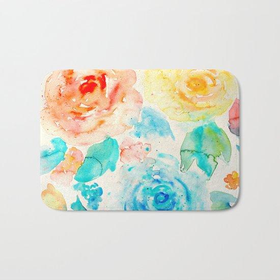 Abstract Flowers 04 Bath Mat
