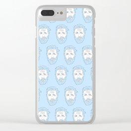 Hardy azzurro Clear iPhone Case