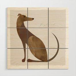 Greyhound Wood Wall Art