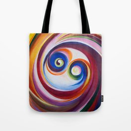 Multicolored spirals Tote Bag