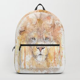 "Watercolor Painting of Picture ""African Lion"" Backpack"