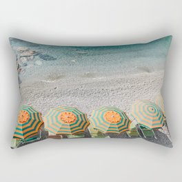 Umbrellas on the beach Rectangular Pillow