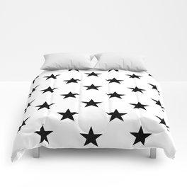 Stars (Black/White) Comforters