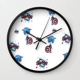 Capt America  super-cute-super-hereo Wall Clock