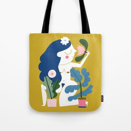 Blue Plant Lady Tote Bag