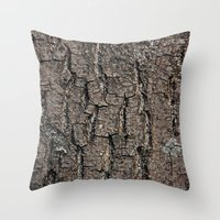 wooden Throw Pillows featuring wooden by ensemble creative