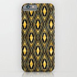 Gold 'Diamonds' Sophisticated Elegant Art Deco Pattern iPhone Case