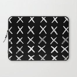 Contemporary X Paint Cross stich Pattern Laptop Sleeve