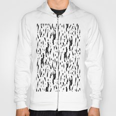 Seattle Rain Black Ink on White Hoody