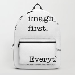 real was imagined first Backpack