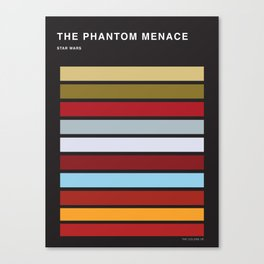 The colors of StarWars - The Phanton Menace Episode 1 Canvas Print