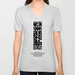 Reply to 1974 SETI Arecibo Message in Crop Circle Formation UK 2001 Alien UFO Message Unisex V-Neck