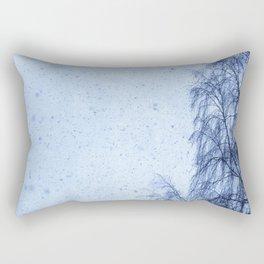 Just snowfall and birch Rectangular Pillow