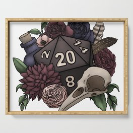 Necromancer D20 Tabletop RPG Gaming Dice Serving Tray