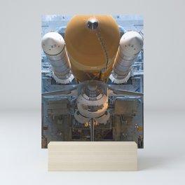 907. Space Shuttle Atlantis, atop the mobile launcher platform Mini Art Print