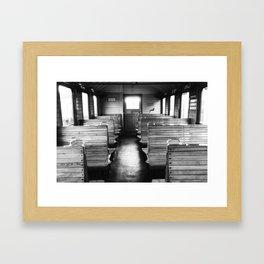 Old train compartment - Altes Zugabteil Framed Art Print