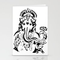 ganesh Stationery Cards featuring Ganesh by ShivaR