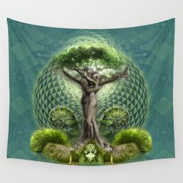 Tree Psyde 2019 - Blue Wall Tapestry
