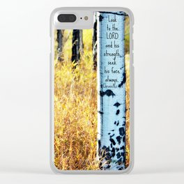 Look to the LORD Clear iPhone Case