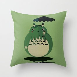 my neighbor cthulu Throw Pillow
