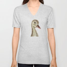 smiling little duck Unisex V-Neck