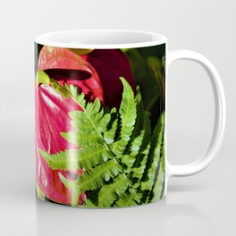 Red Anthurium Tropical Valentine by Reay of Light Coffee Mug