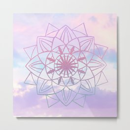 Star Mandala Unicorn Pastel Clouds #1 #decor #art #society6 Metal Print