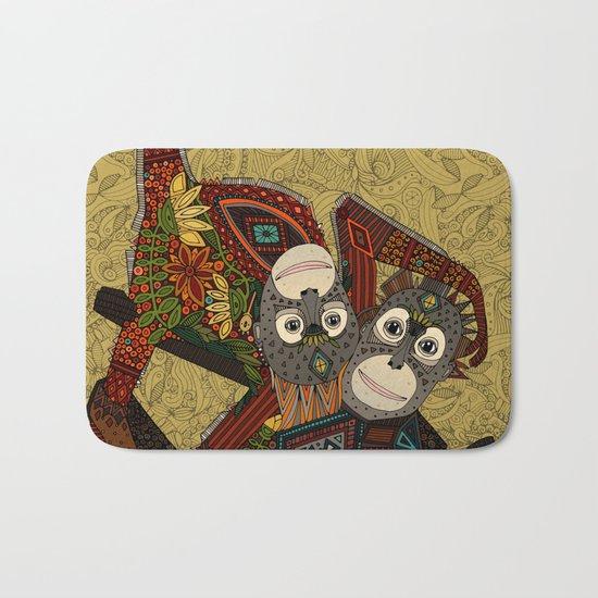 orangutans gold Bath Mat